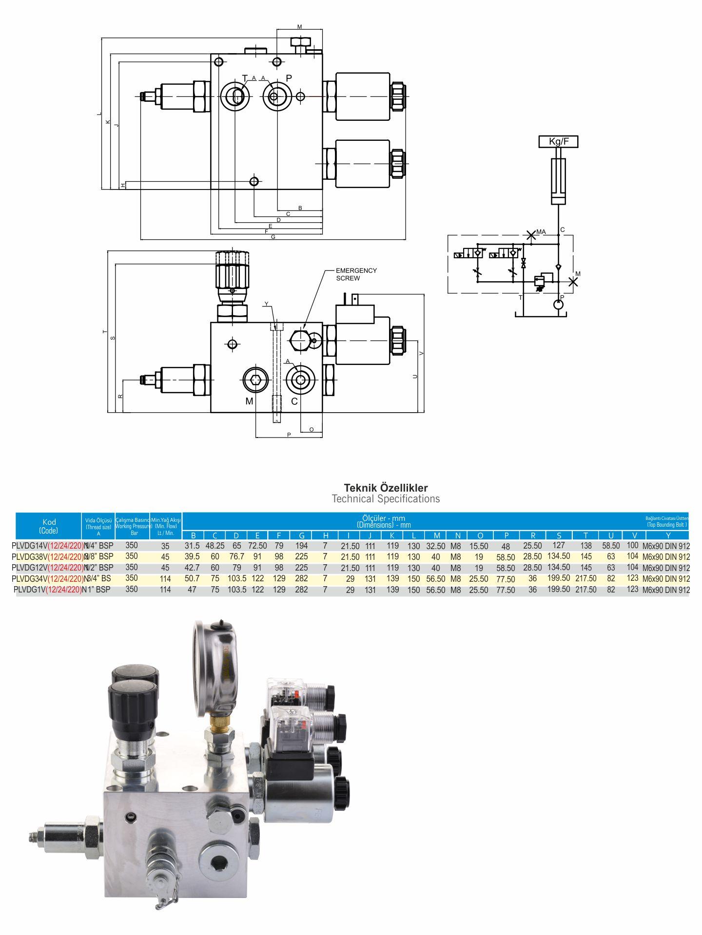 hight resolution of plvd series hydraulic platform lift valves double flow control valve