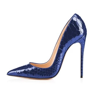 Ferago Croc Kimora Pumps Blue 1