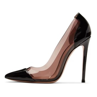 The Ferago Grey Black PVC Pumps 1