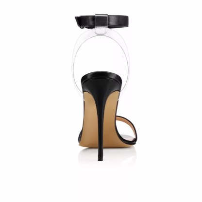 The Ferago Leather PVC Strappy Heels 2
