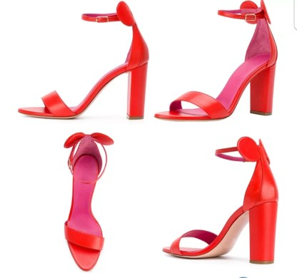 The Ferago Mickey Sandals Block Heels2