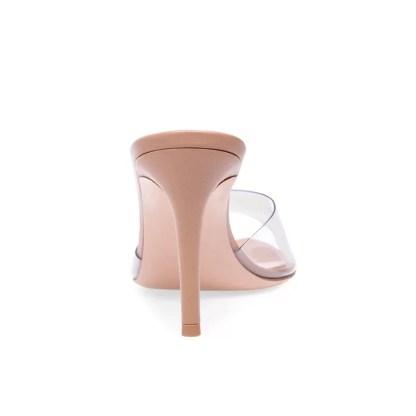 The Ferago Open Toe PVC Transparent Mules 2