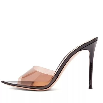 The Ferago Open Toe PVC Transparent Mules 6