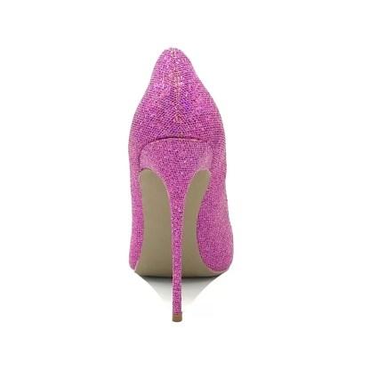 The Ferago Pink Glitter Pumps 2