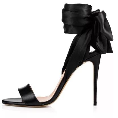 The Ferago Satin Sandals 2