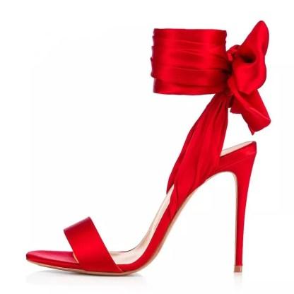 The Ferago Satin Sandals 5