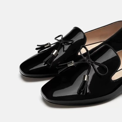 The Ferago Shinning Leather Loafers 1