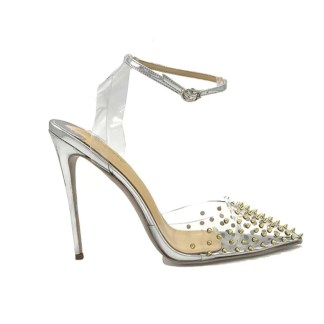 The Ferago Silver Rivet Pumps 1