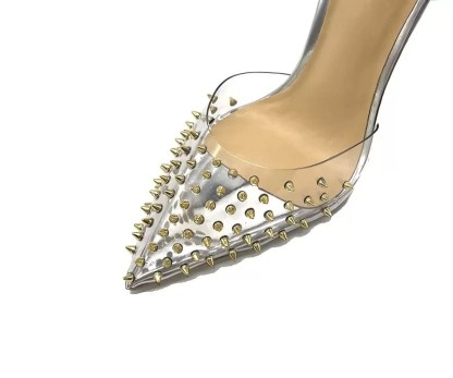 The Ferago Silver Rivet Pumps 4