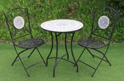 Garden Furniture Mosaic mosaic tiled – metal garden table & chair set | ferailles