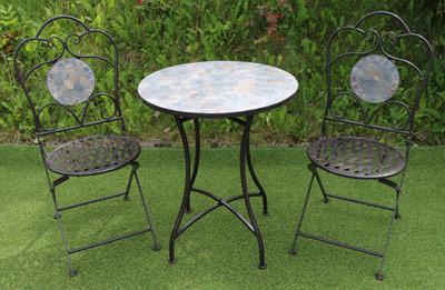 mosaic patio table chair set