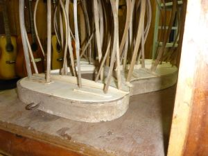 Glue the bracing and sound board