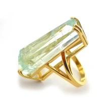 44 Carat Aquamarine Ring in 14kt Gold