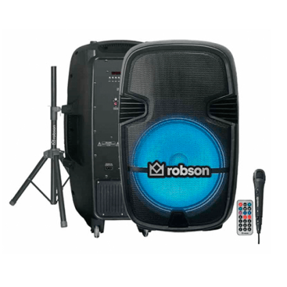 Bafle recargable de 15 pulgadas bluetooth Robson