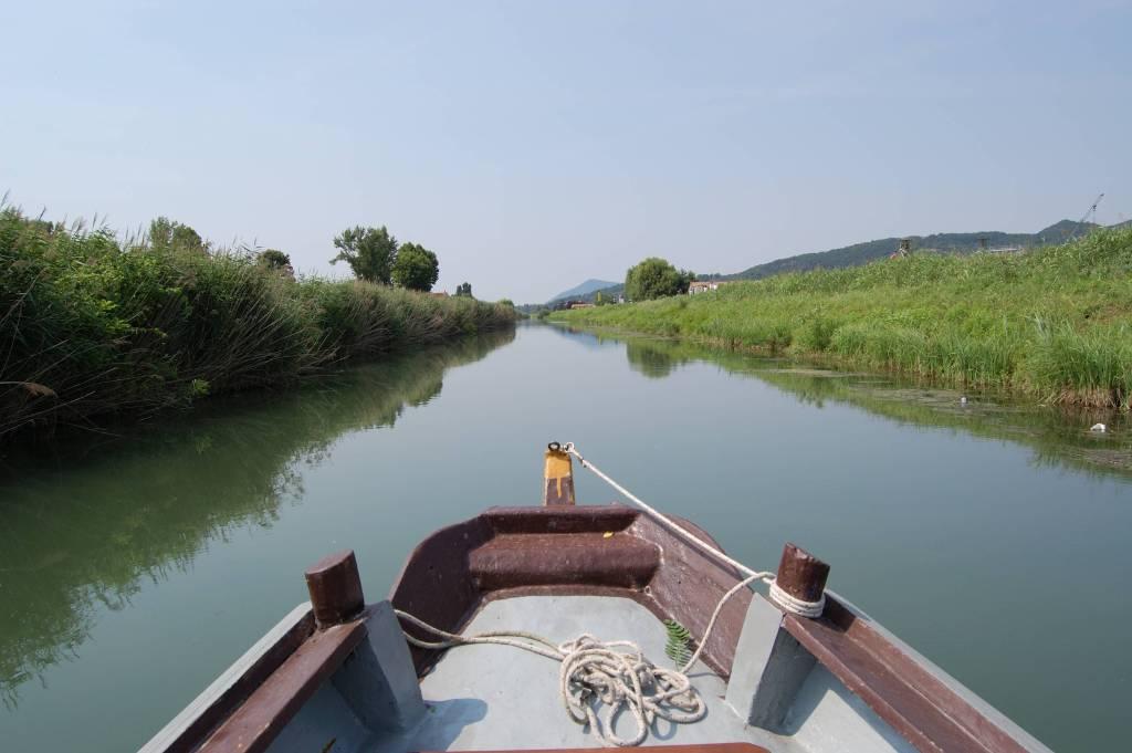 Navigando da Battaglia Terme a Monselice