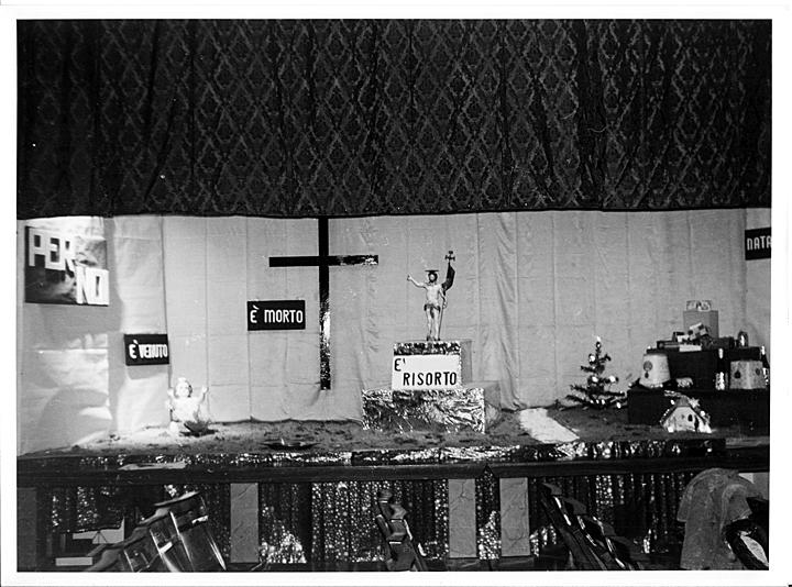 Presepio a Battaglia Terme nel 1976 nella Chiesa Parrocchiale di San Giacomo Apostolo
