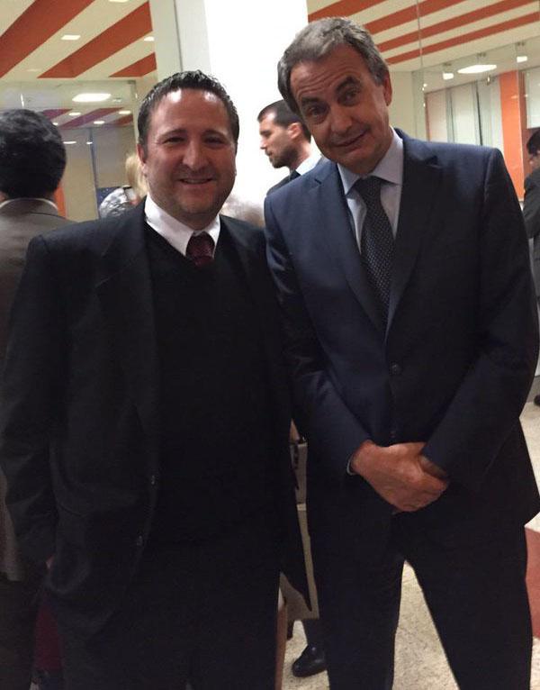 José Luis Rodríguez Zapatero y Fernando Gutiérrez