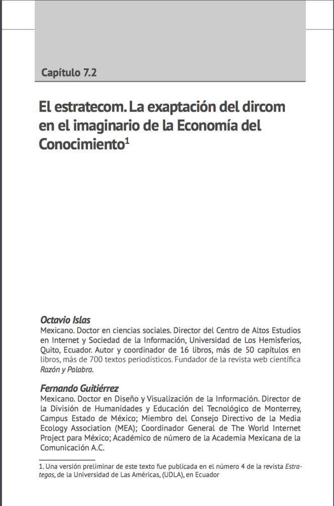 El estratecom. La exaptación del dircom en el imaginario de la Economía del Conocimiento
