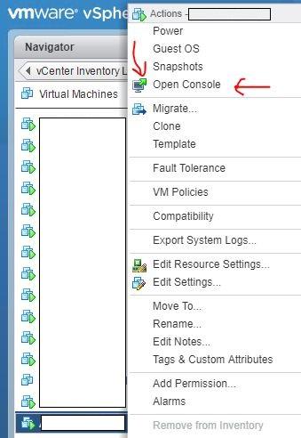 vmware vcenter console