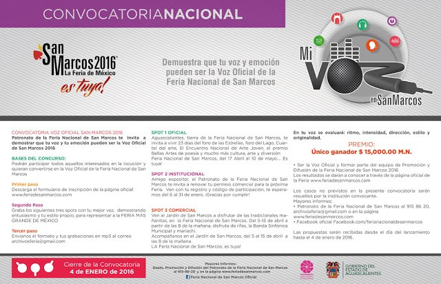 convocatoria voz feria san marcos 2016