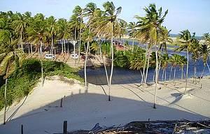 Barra do Punaú: Ponto de encontro do rio com o mar é concorrido ao por do sol