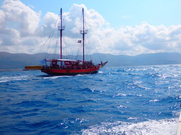 Bootreise im mittelmeer