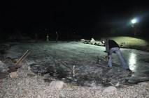 Eisstockschießen am Teich