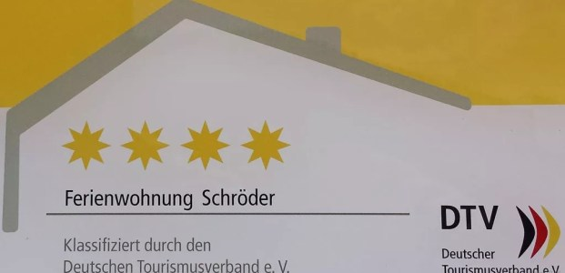 4 Sterne vom Deutscher Tourismusverband e. V. (DTV)