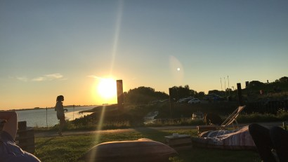 Sonnenuntergang Bielenberg Kollmar Wohnungen