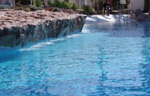 Pool mit flachem Eingang