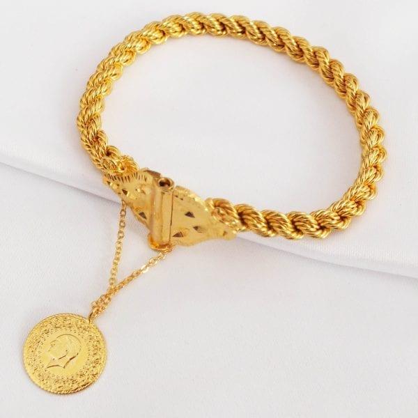 Altın Kaplama Antalya Burması Kelepçe BLK-159