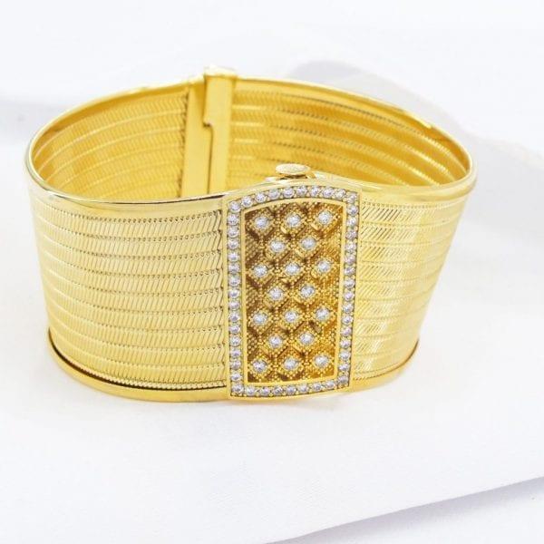Altın Kaplama Klasik Trabzon Kelepçe BLZ-150