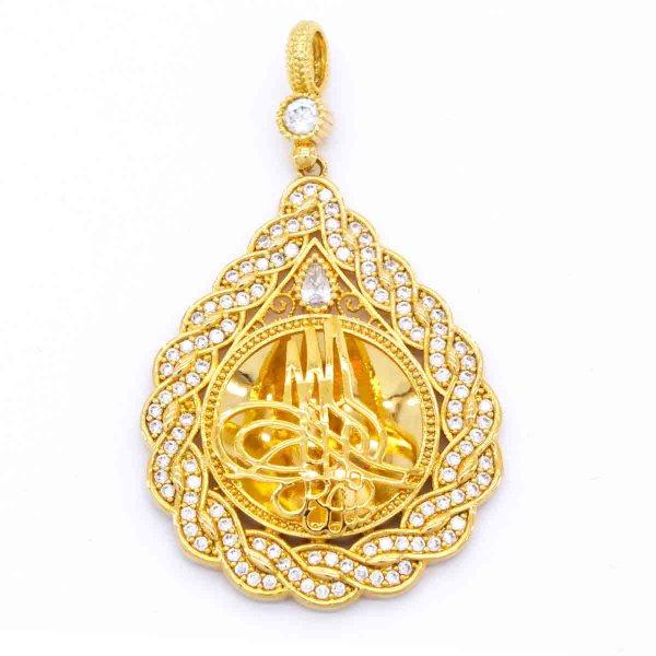 Altın Kaplama Tuğra Kolye Ucu TGR-100