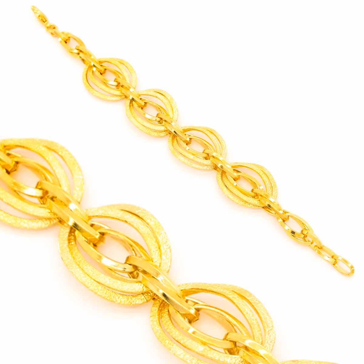 FerizZ 22 Ayar Altın Kaplama Gösterişli Samanyolu Kadın Bileklik 19cm-21.5cm BLK-318