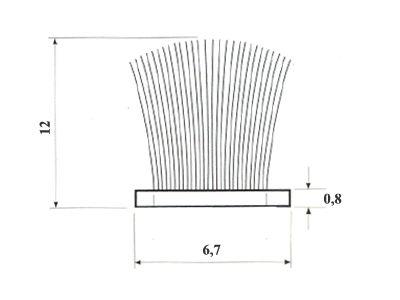 Szczotka przeciwkurzowa 6,7x12