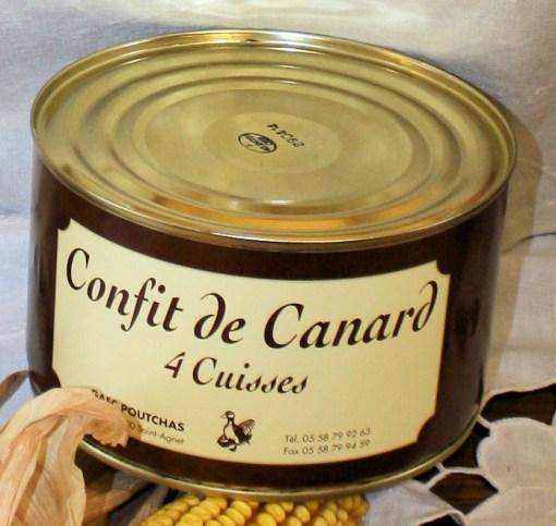 Ferme Poutchas - confit de canard 4 cuisses