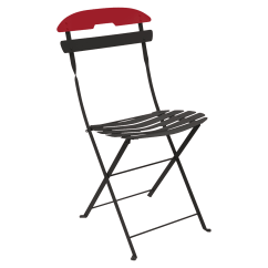 Steel Chair Accessories Kitchen Covers Cork La Mome Foldable Metal Outdoor Furniture Two Tone