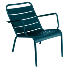 Metal Outdoor Chair Armless Swivel Fermob Garden Furniture French Colourful Design For Fauteuil Bas Luxembourg Bleu Acapulco