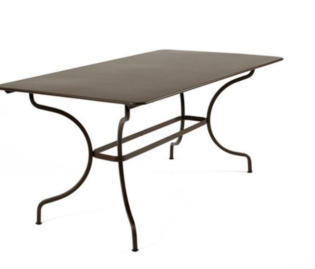 Salon De Jardin Monceau Fermob Gris Verveine Aubergine Table 4 ...