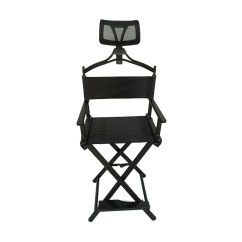 Make Up Chair Shabby Chic Covers Target Portable Aluminium Director S Makeup With Headrest Aluminum Headrests