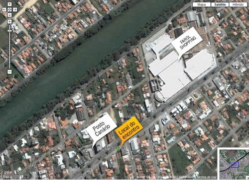 Mapa do local do evento - Tubarão