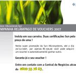 Promoção relâmpago de vouchers da SUN