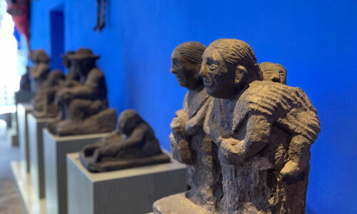 statues in museum in Mexico