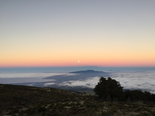 Maui Hawaii - Sonnenaufgang am Haleakala Krater