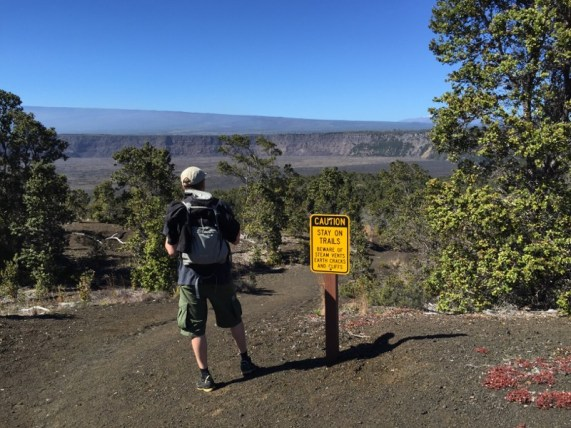 Big Island Hawaii - Trail im National Park Volcano