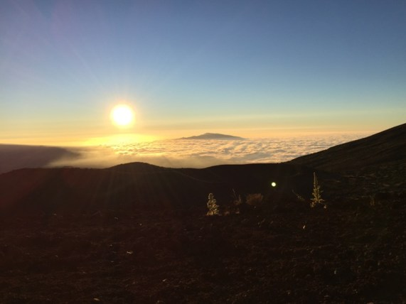 Big Island Hawaii - Visitor Center Mauna Kena - Sonnenuntergang