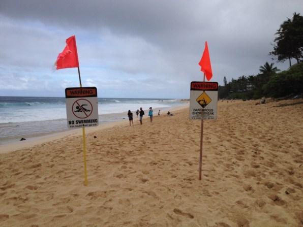 Hawaii O´ahu North Shore - nass, kalt und windig