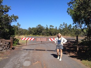 Big Island Hawaii - Kahuku Trail beim Marker 70 - closed