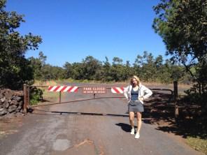 Big Island Hawaii - Kahuku Trail beim Marker 70 - closed