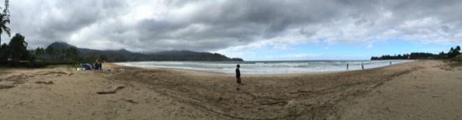 """Kauai Hawaii - Hanalai - eigentlich """"der Surfspot"""" - aber nicht bei schlechtem Wetter"""
